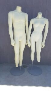 Female And Male Full Body Realistic Mannequin No Head