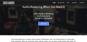 Premium Domain Sale Www fastaudiomastering com With Established Ecommerce