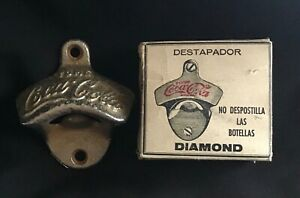 "MEXICO TOME COCA COLA ""DIAMOND""  WALL BOTTLE OPENER NO STARR X VERY RARE"