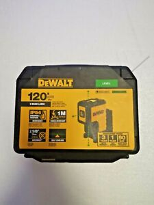 120 Ft Green Self leveling 3 spot Laser Level With 2 Aa Batteries