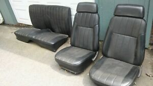 1969 Camaro firebird Bucket Seats With Rear Seats Black Deluxe Original Covers