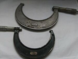 Pair Of Vintage Starrett Outside Micrometer 239 And 436