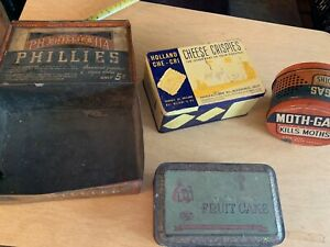 (4) Vintage Tin Cans