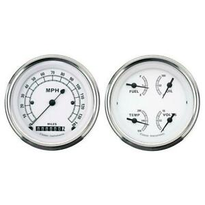 Classic Instruments Cw02slf White Series Quad Gauges 3 3 8 Inch