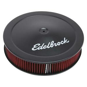 Edelbrock 1225 Pro flo Air Cleaner Round Dropped Base