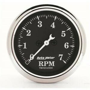 Autometer 1797 Old Tyme Black Air Core In Dash Tachometer 2 1 16