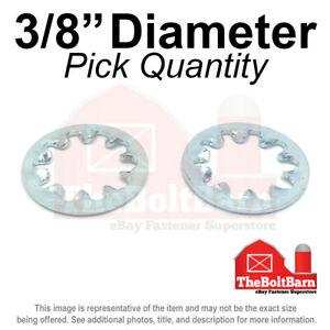 3 8 Internal Tooth Star Lock Washer Low Carbon Steel Zinc Plated pick Quantity