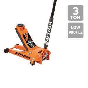 Daytona 3 Ton Low Profile Professional Rapid Pump Floor Jack 4 Colors