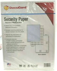Docugard Standard Medical Security Paper For Printing Prescriptions And Preventi