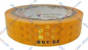 Yellow orange amber Reflective Tape Conspiciuity Safety Caution Night 1 2 Wide