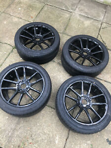 4 set 235 45 R 18 Wheels Tires Package 2 Continental Good Year And Hankook