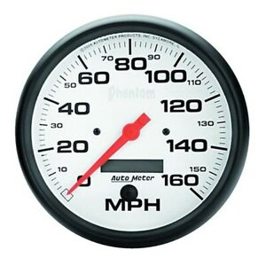 Autometer 5889 Phantom Air core Speedometer 160 Mph 5 Inch