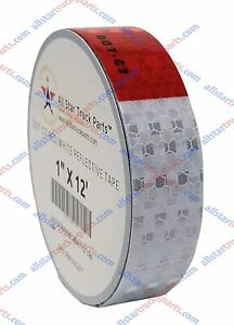 Conspicuity Tape Dot c2 Reflective Truck Trailer Safety Red White 1 2 3 Wide
