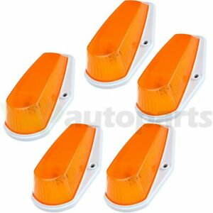 5x Cab Roof Light Marker Amber Case Base Housing For 80 97 Ford F 150 F 250