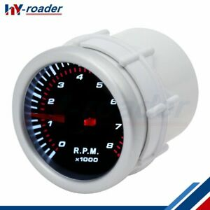 2 Inch 52mm Tachometer Tacho Gauge Meter Fits For 4 6 8 Cylinder Cars