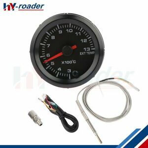 2in 52mm Car Exhaust Gas Temp Gauge Led Pointer Egt Temperature Meter Abs
