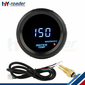 2 Water Temp Gauge Temperature Car Universal Auto Meter Red Warning Light