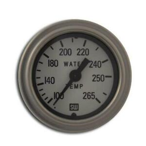 Stewart Warner 82326 72 Wht Deluxe Water Temperature Gauge