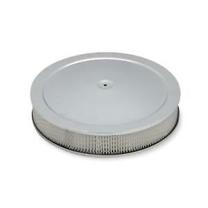 Holley 120 4535 4500 Chrome Drop Base Air Cleaner 3 Inch Paper