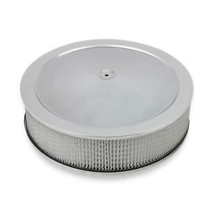 Holley 120 4145 4150 Chrome Drop Base Air Cleaner 4 Inch Paper