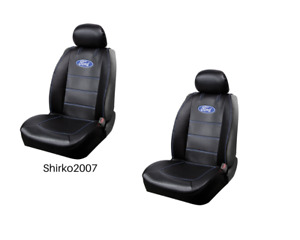 New Pair Ford Synthetic Leather Sideless Car Truck Front Seat Covers