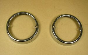 1955 1956 Pontiac All Exc Wagon Backup Lamp Bezel Pair C5945735rs