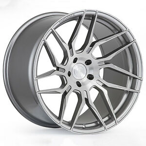 20 Rohana Rfx7 Brushed Titanium Concave Wheels For Ford Mustang Gt 20x9 10