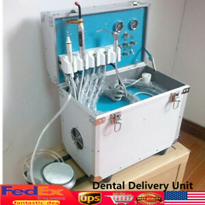 Dental Mobile Delivery Unit W Led Curing Light Ultrasonic Scaler 3way Syring 4h