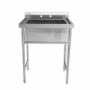 30 Stainless Steel Utility Commercial Square Kitchen Sink Sturdy Construction