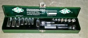 Sk Professional Tools 18 Piece Set 94520 3 8 Drive Fractional Socket Set Usa