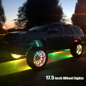 17 5 Chasing Flow Double Row Led Wheel Lights Brightest Waterproof Bluetooth