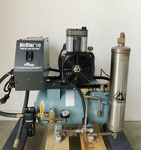 Air Techniques Airstar 10 Dental Air Compressor System Nice Condition