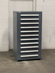 Used Stanley Vidmar 11 Drawer Cabinet Freight Damage Industrial Storage 2229