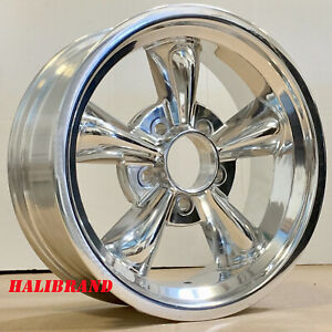 Halibrand 5 Spoke Aluminum Wheels Genuine 15 X6 5x4 5 Et 3 056 Set Of 2 Rims