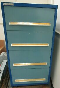 Stanley Vidmar Tool Storage Cabinet 30 W 59 H 4 drawer With Lots Of Dividers