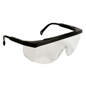 Radians G4 Black clear Fit Over Most Glasses Safety Glasses Telescoping ratchet