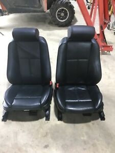 99 00 01 02 03 Bmw E39 5 series Factory Front Sports Seat Black Leather Used Oem