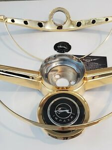 1964 Chevrolet Impala 24kt Gold Plated Horn Ring Gold Button