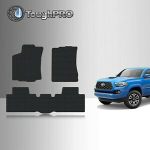 Toughpro Floor Mats Black For Toyota Tacoma Access Cab All Weather 2016 2021