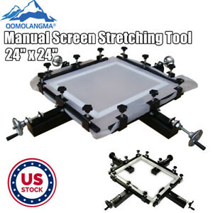 Us Stock 24 Manual Screen Stretching Tool Machine Screen Printing Stretcher