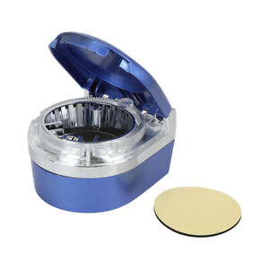 Blue Led Car Ashtray Detachable Cigarette Storage Organizer Holder With Lid