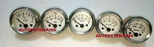 2 1 16 52mm Electrical Oil Pressure Fuel Volt Oil Temp Water Temp Gauge Kit