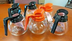 For Bunn Lot Of 6 12 Cup Commercial Coffee Pots decanters 4 Black