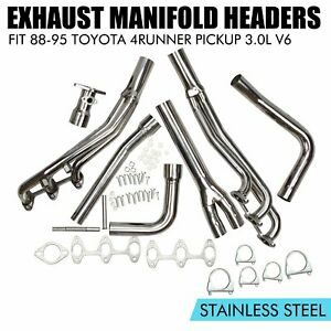 Performance Exhaust Manifold Headers Fit 1988 1995 Toyota 4runner Pickup 3 0l V6