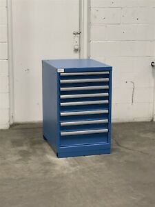 Used Lista 8 Drawer 22x28x36 Cabinet Industrial Tool Storage 2238 Vidmar