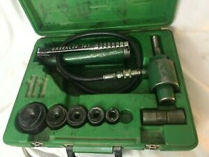 Green Lee 767 Hydraulic Knockout Punch Set set A