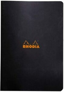 Rhodia Black Staplebound Notebook 2 Pack Graph grid 8 25x11 75 Inch a4 Size