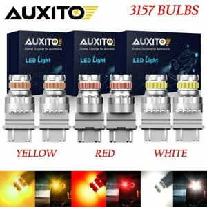6x 3157 3156 Led Backup Reverse Brake Turn Signal Light Combo White Red Yellow