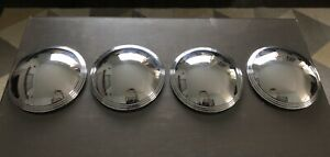 Hollywood Baby Moon Ribbed Edge Hubcaps Lyon calnevar National Kustom