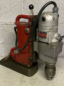 Milwaukee Electromagnetic Mag Drill Variable Speed 18n Jacobs Chuck 1 1 4 Cap